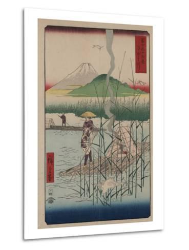 Sagami River-Ando Hiroshige-Metal Print