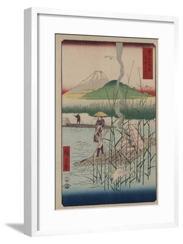 Sagami River-Ando Hiroshige-Framed Art Print