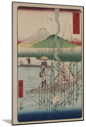 Sagami River-Ando Hiroshige-Mounted Giclee Print