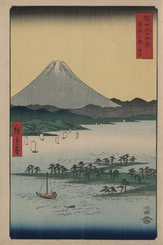 Pine Beach at Miho in Suruga-Ando Hiroshige-Stretched Canvas Print