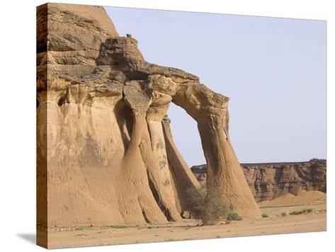 Rock Formations in Desert-Frank Lukasseck-Stretched Canvas Print