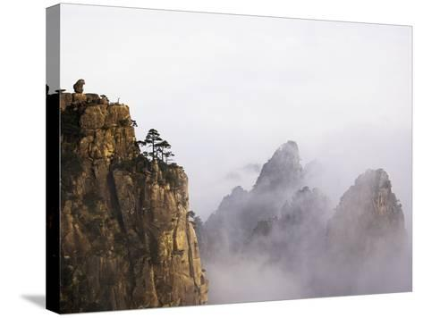 Mountains and Fog-Frank Lukasseck-Stretched Canvas Print