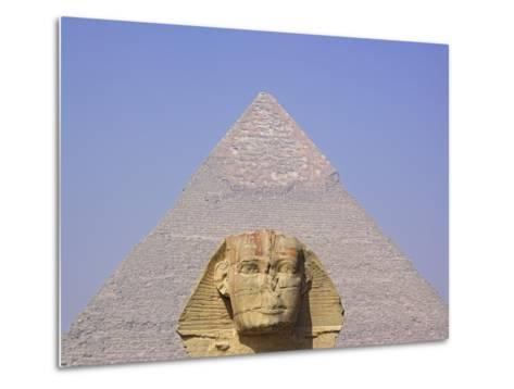 Sphinx and Great Pyramid-Frank Lukasseck-Metal Print