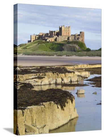 Bamburgh Castle on the Beach-Paul Thompson-Stretched Canvas Print
