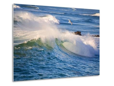 Heavy Surf off Cape Kiwanda on Oregon Coast-Craig Tuttle-Metal Print