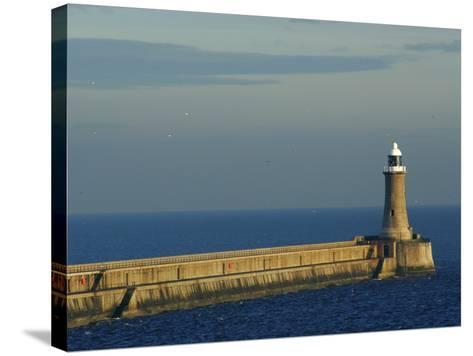 North Pier Lighthouse-Jason Friend-Stretched Canvas Print