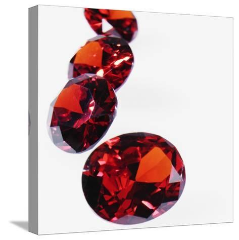 Round Cut Rubies--Stretched Canvas Print