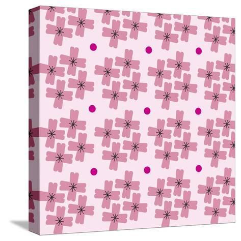 Cherry Blossom Pattern--Stretched Canvas Print