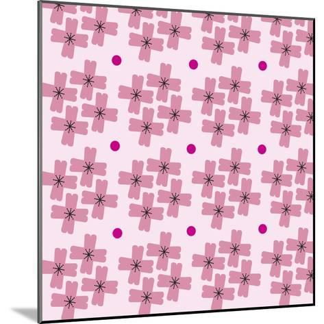 Cherry Blossom Pattern--Mounted Giclee Print