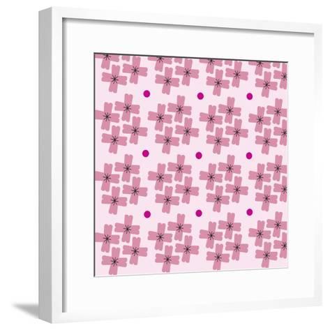 Cherry Blossom Pattern--Framed Art Print