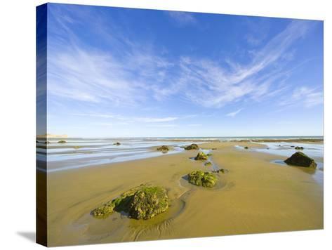 Sandy Beach at Low Tide, Valdez Peninsula-John Eastcott & Yva Momatiuk-Stretched Canvas Print