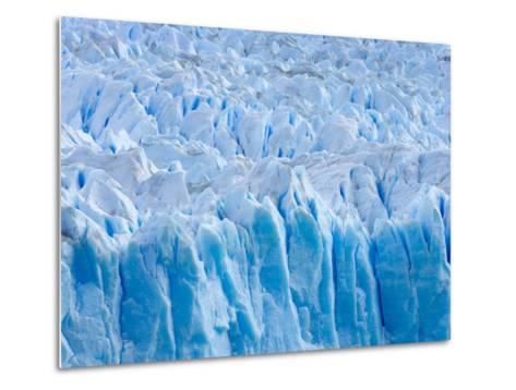 Rough Surface of Perito Moreno Glacier-John Eastcott & Yva Momatiuk-Metal Print