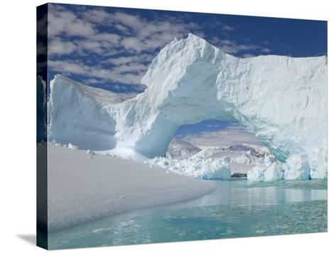Huge Arch in Iceberg-John Eastcott & Yva Momatiuk-Stretched Canvas Print