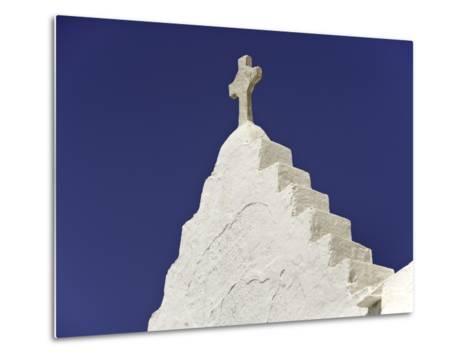Cross on Top of Gable-Danny Lehman-Metal Print