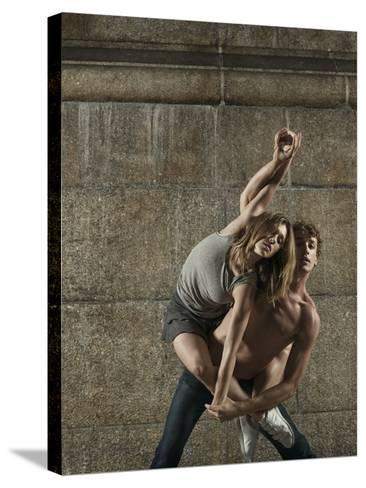 Man and Woman Dancing Together-Patrik Giardino-Stretched Canvas Print