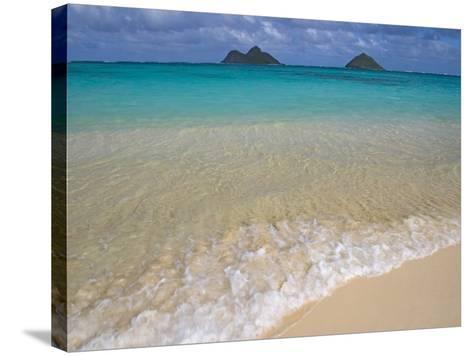 Mokulua Islands from Lanikai Beach-Darrell Gulin-Stretched Canvas Print
