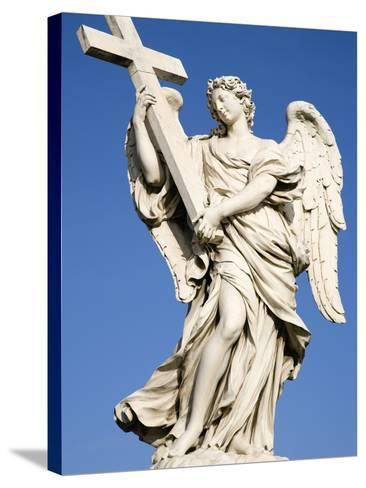Statue of an Angel on Sant'Angelo Bridge-Paul Seheult-Stretched Canvas Print