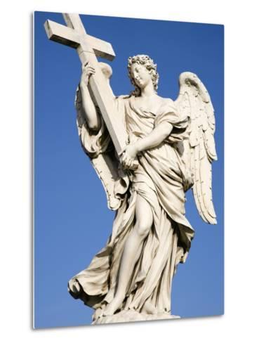 Statue of an Angel on Sant'Angelo Bridge-Paul Seheult-Metal Print