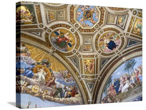 Paintings in Stanza della Segnatura at Vatican Palace-Paul Seheult-Stretched Canvas Print