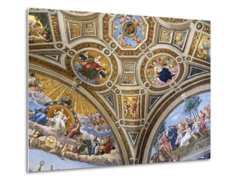 Paintings in Stanza della Segnatura at Vatican Palace-Paul Seheult-Metal Print