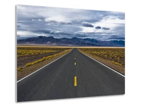 Empty Highway in Death Valley National Park-Rudy Sulgan-Metal Print