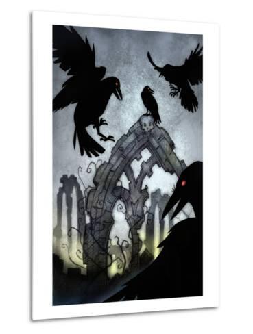 Crows-Harry Briggs-Metal Print