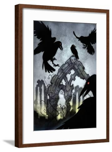 Crows-Harry Briggs-Framed Art Print