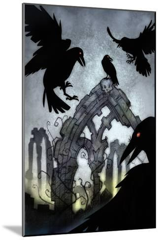 Crows-Harry Briggs-Mounted Giclee Print