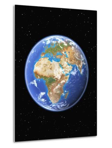 Eastern Hemisphere of Earth-Kulka-Metal Print