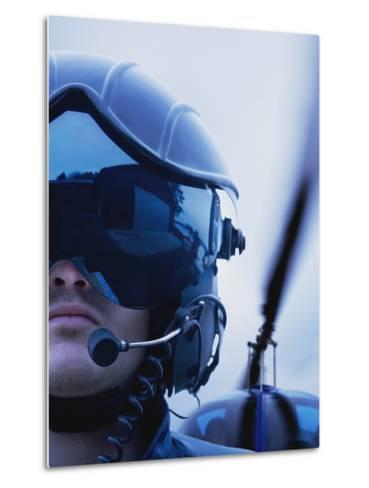 Helicopter Pilot-Bruno Ehrs-Metal Print