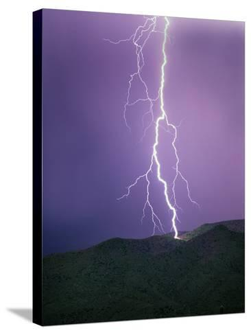 Lightning Strike near Tucson--Stretched Canvas Print