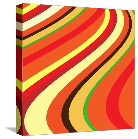 Retro Wave Pattern--Stretched Canvas Print