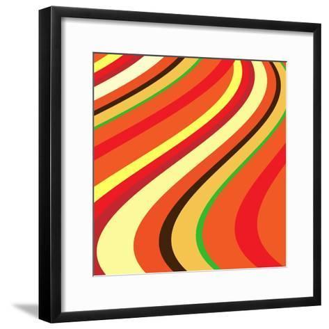 Retro Wave Pattern--Framed Art Print