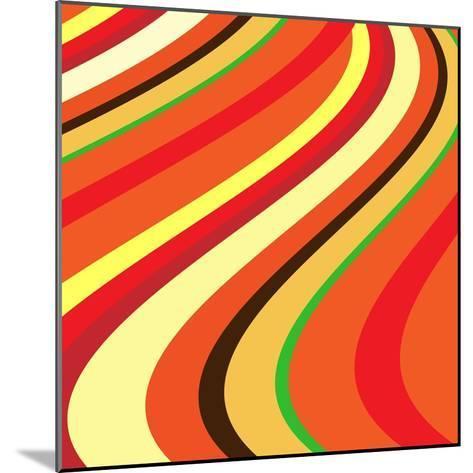 Retro Wave Pattern--Mounted Giclee Print