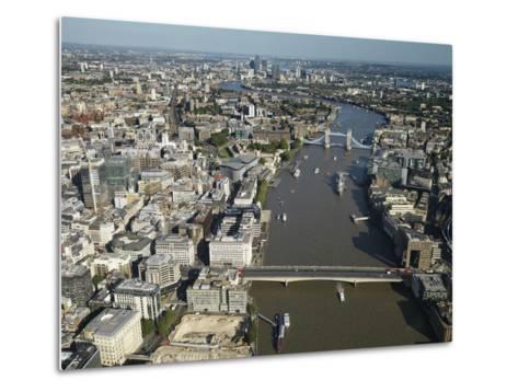 Thames River and London-Jason Hawkes-Metal Print