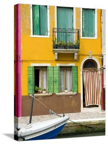 Colorful House on Burano Island--Stretched Canvas Print