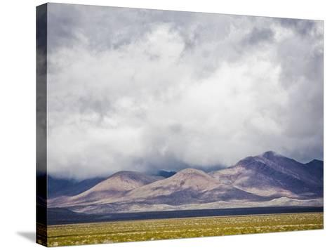 Stormy Sky over Death Valley Badlands-Rudy Sulgan-Stretched Canvas Print