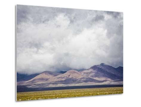 Stormy Sky over Death Valley Badlands-Rudy Sulgan-Metal Print