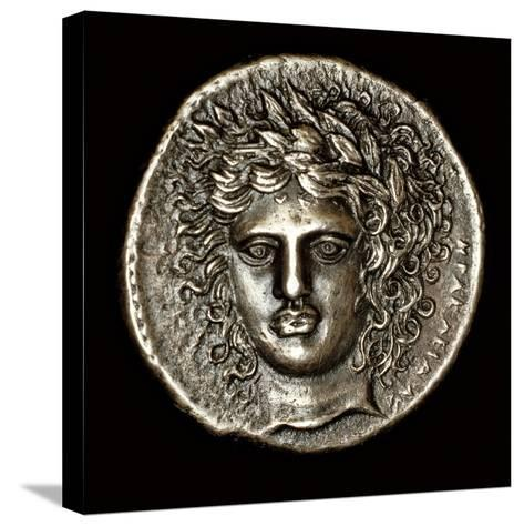 Ancient Greek Silver Tetradrachm with Head of Apollo--Stretched Canvas Print