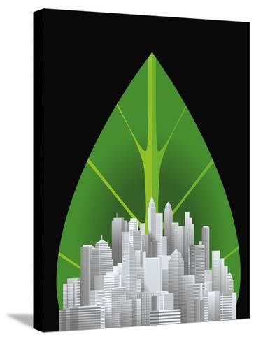Green City--Stretched Canvas Print