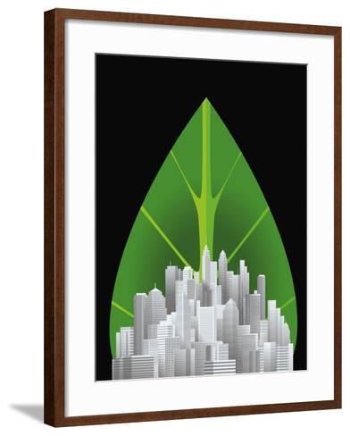 Green City--Framed Art Print