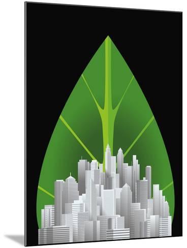 Green City--Mounted Giclee Print