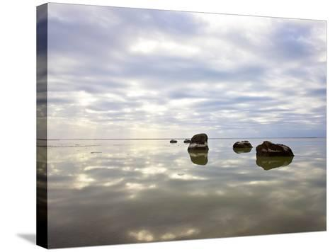 Sky Reflected in Water--Stretched Canvas Print