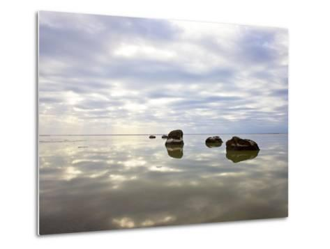 Sky Reflected in Water--Metal Print
