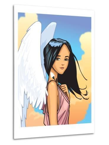 Angel With FLower-Harry Briggs-Metal Print