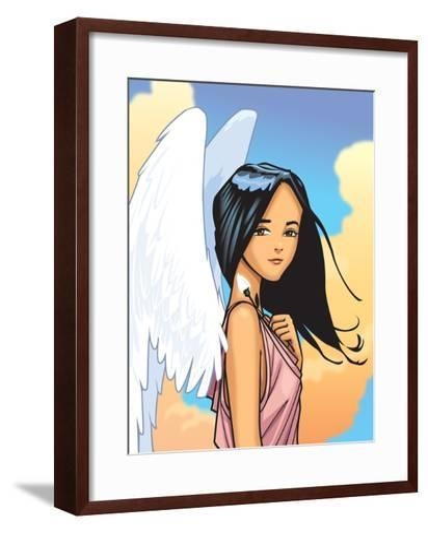 Angel With FLower-Harry Briggs-Framed Art Print