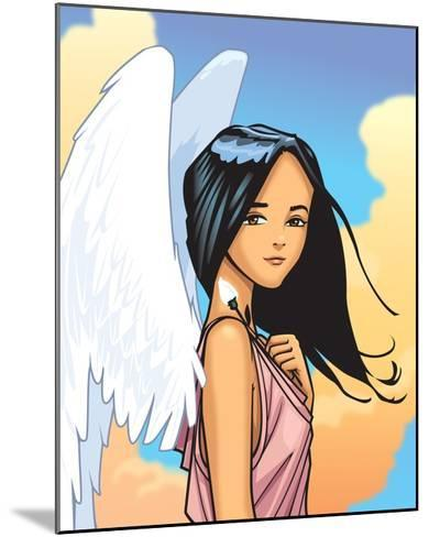 Angel With FLower-Harry Briggs-Mounted Giclee Print