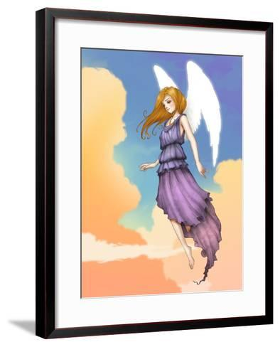 Angel In The Clouds-Harry Briggs-Framed Art Print