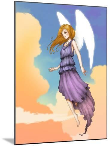 Angel In The Clouds-Harry Briggs-Mounted Giclee Print