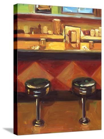 Bar Stools-Pam Ingalls-Stretched Canvas Print